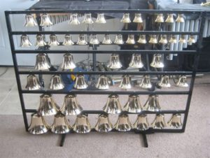 Bells on rack