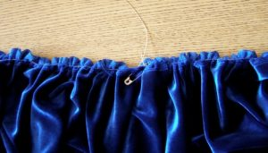 Table skirt gathering detail